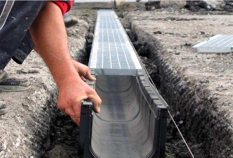 Установка ливневой канализации открытого типа